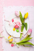 Easter table setting — Fotografia Stock