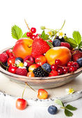 Bowl of mixed berries — Stock Photo