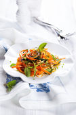 Zucchini and carrot salad  — Stock Photo