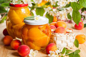 Apricot and peach preserves — Stock Photo