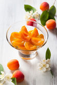 Apricot compote — Stock Photo