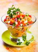 salsa with melon — Stock Photo