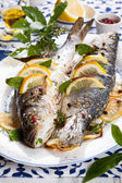 Oven-baked Sea bass  — Stock Photo