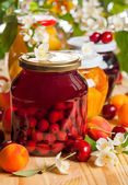 Preserved  fruit and berries — Stock Photo