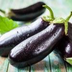 Fresh eggplants — Stock Photo #49222539