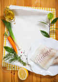 Cod fillets with vegetables — Стоковое фото