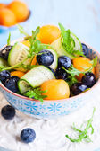 Melon, cucumber and blueberry salad — Стоковое фото