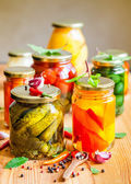 Vegetable preserves — Stock Photo