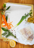 Cod fillets with vegetables — Stock Photo