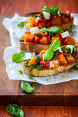 Bruschetta with roasted pumpkin — Foto de Stock