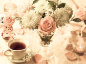 Autumnal table setting — Stock Photo