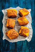 Pumpkin brownies — Stock Photo