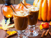 Pumpkin Spice Coffee — Stock Photo
