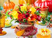 Impostazione del tavolo festivo — Foto Stock