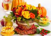 Jesień tabeli ustawienia — Zdjęcie stockowe