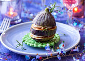 Fig and goat's cheese  — Stockfoto