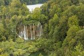 Natural waterfalls in Plitvice Lake National Park — Stock Photo