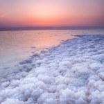 Sunset at Dead Sea, Jordan — Stock Photo