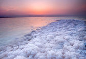 Sunset at Dead Sea, Jordan — Stock Photo