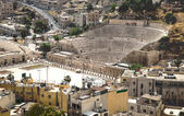 Ancient Roman Amphitheater in Amman, Jordan — Stock Photo