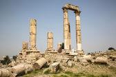 Ancient Temple on the Citadel in Amman, Jordan — Stock Photo