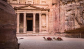 Entrance in Ancient City of Petra — Stock Photo