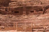 Vchod divadla petra, jordánsko — Stock fotografie
