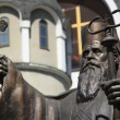St. Kiril in front of Macedonian Orthodox Church — Stock Photo