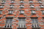 Windows of Joze Plecnik National and University Library of Slove — Stock Photo