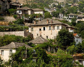 Old Ottoman houses of Gjirokastra, Albania — Stock Photo