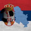 Serbian football — Stock Photo