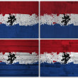 Dutch flag collage — Stock Photo