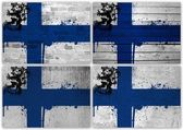 Finnish flag collage — Foto Stock