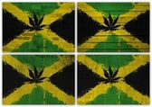 Jamaica flag collage — 图库照片