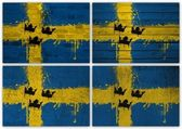 Swedish flag collage — Stock Photo