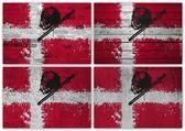 Danish flag collage — Stock Photo