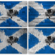 Scottish flag collage — Stock Photo