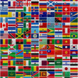Flags of all World countries — ストック写真