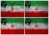 Iranian flag collage — Stock Photo