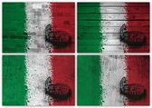 Italian flag collage — Stock Photo
