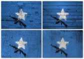 Somali flag collage — Stock Photo