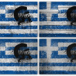 Greek flag collage — Stockfoto