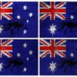 Australian flag collage — Stock Photo