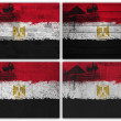 Egypt flag collage — Stock Photo