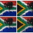 Stock Photo: South Africflag collage