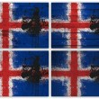 Iceland flag collage — 图库照片