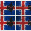 collage du drapeau de l'Islande — Photo