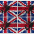 Great Britain flag collage — Stock Photo
