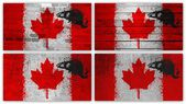 Canada flag collage — Stock Photo