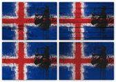 Islandská vlajka koláž — Stock fotografie